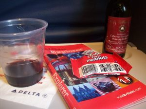 Free wine on the plane? Yes please, I will take two.